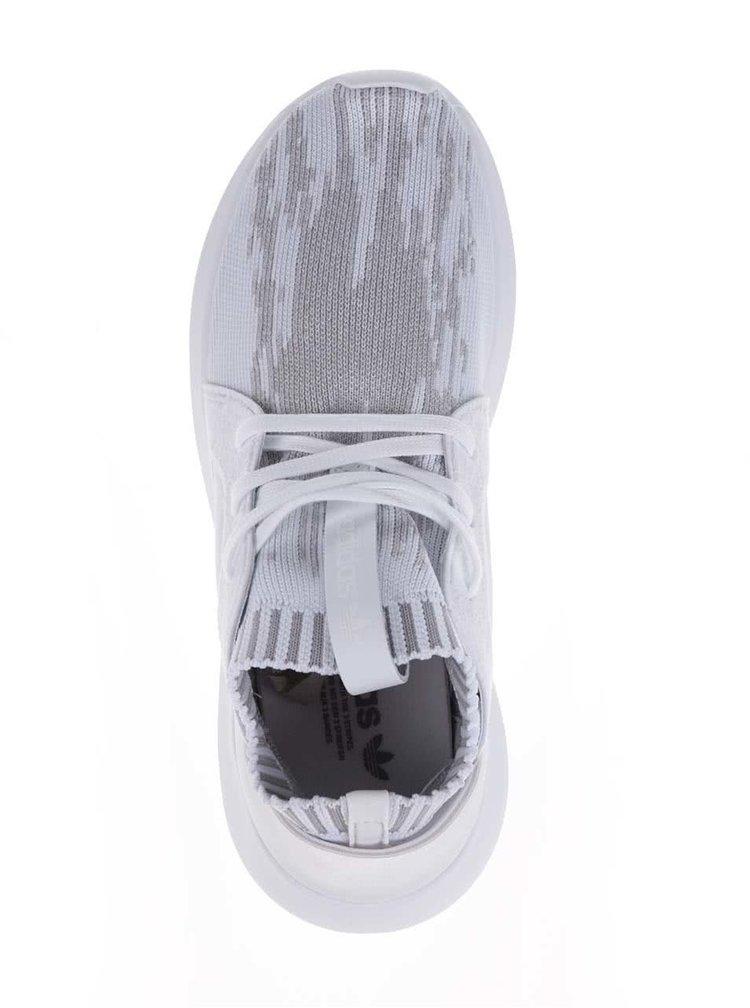 Bílé dámské  vzorované tenisky adidas Originals Tubular