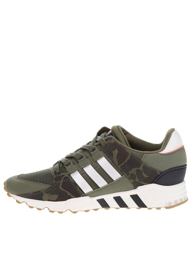 Zelené pánské vzorované tenisky adidas Originals Equipment Support