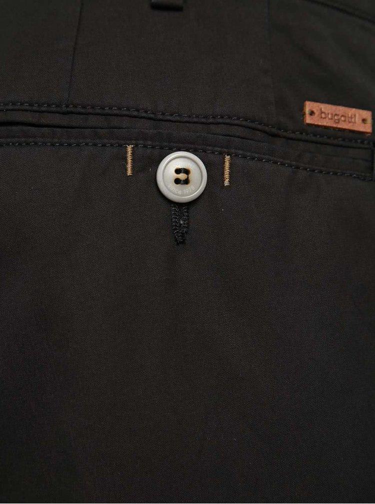 Pantaloni negri chino bugatti pentru bărbați