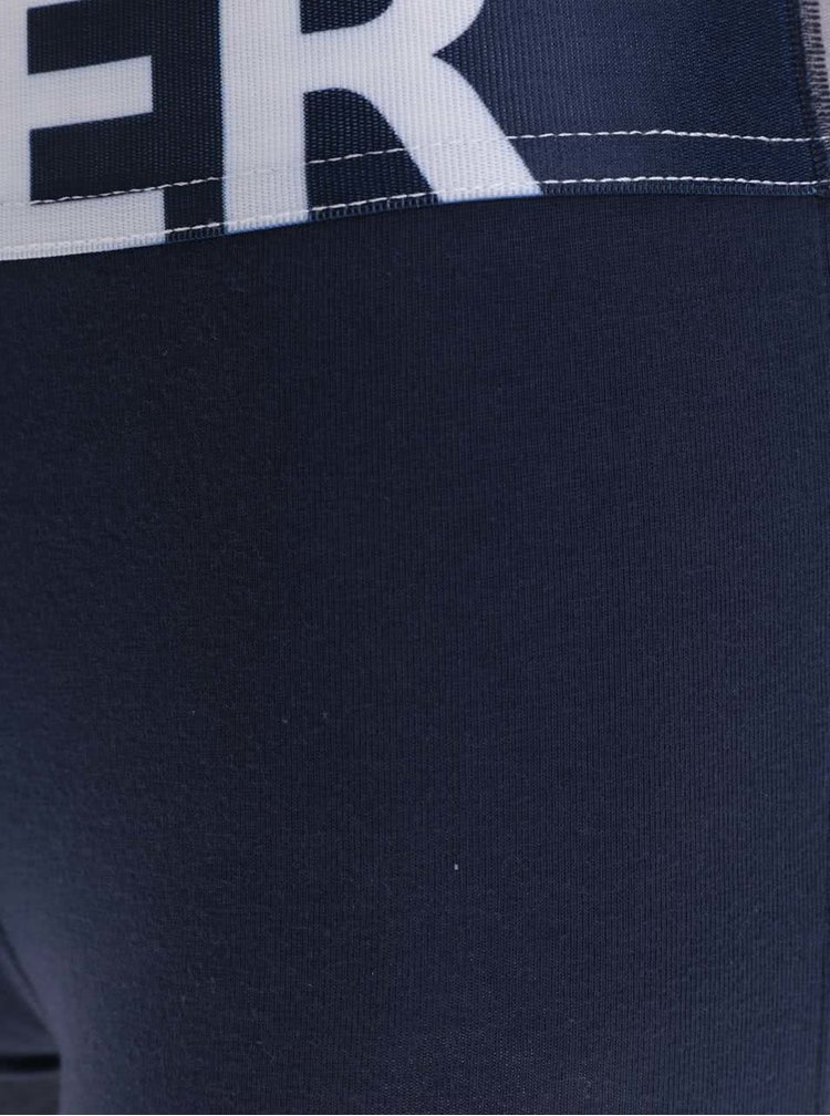 Boxeri albastri cu print logo Tommy Hilfiger