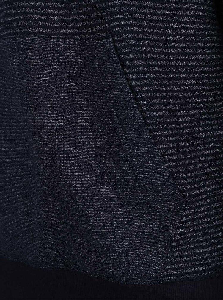Tmavě modrá pánská mikina s kapucí Tommy Hilfiger