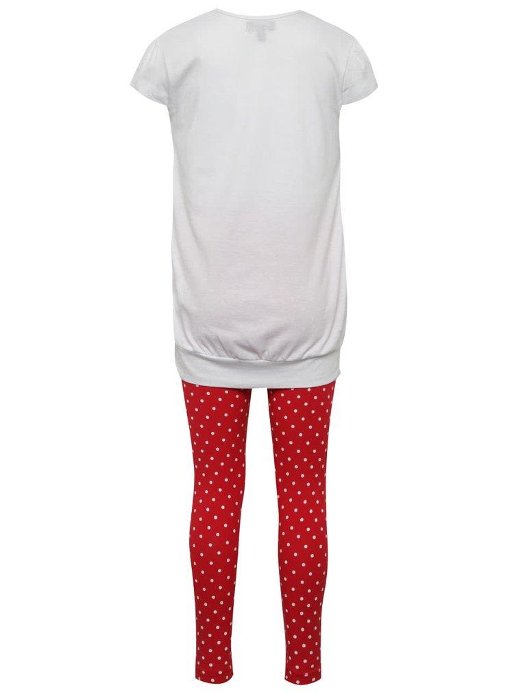 Červeno-bílé dívčí pyžamo Mix´n Match