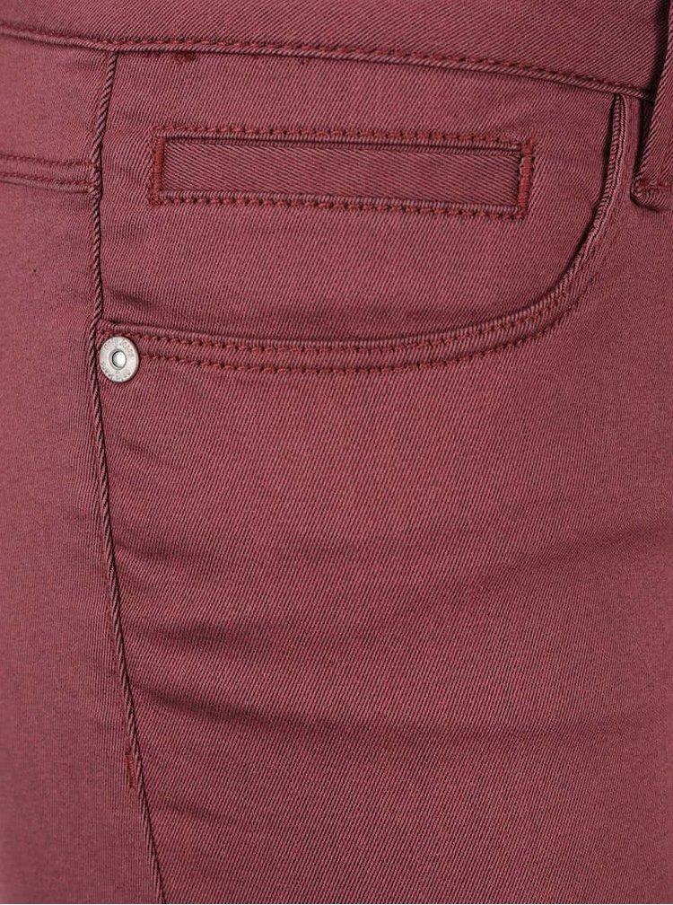 Vínové skinny džíny ONLY Elena