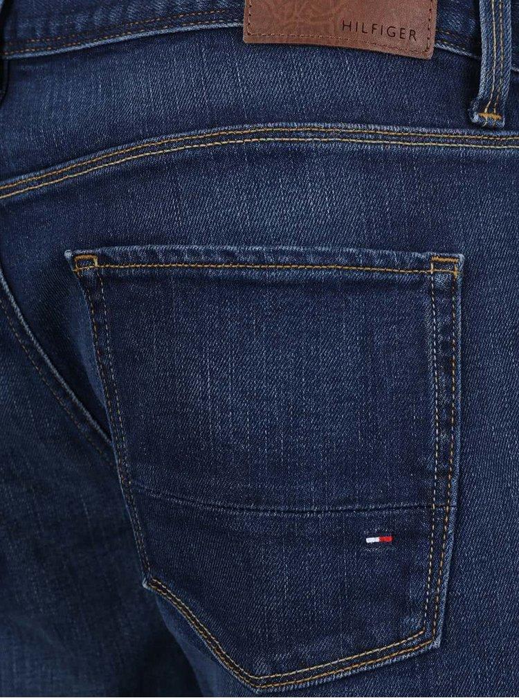 Tmavě modré pánské džínové kraťasy Tommy Hilfiger