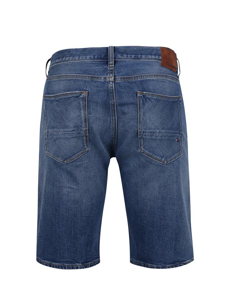 Modré pánské džínové kraťasy Tommy Hilfiger