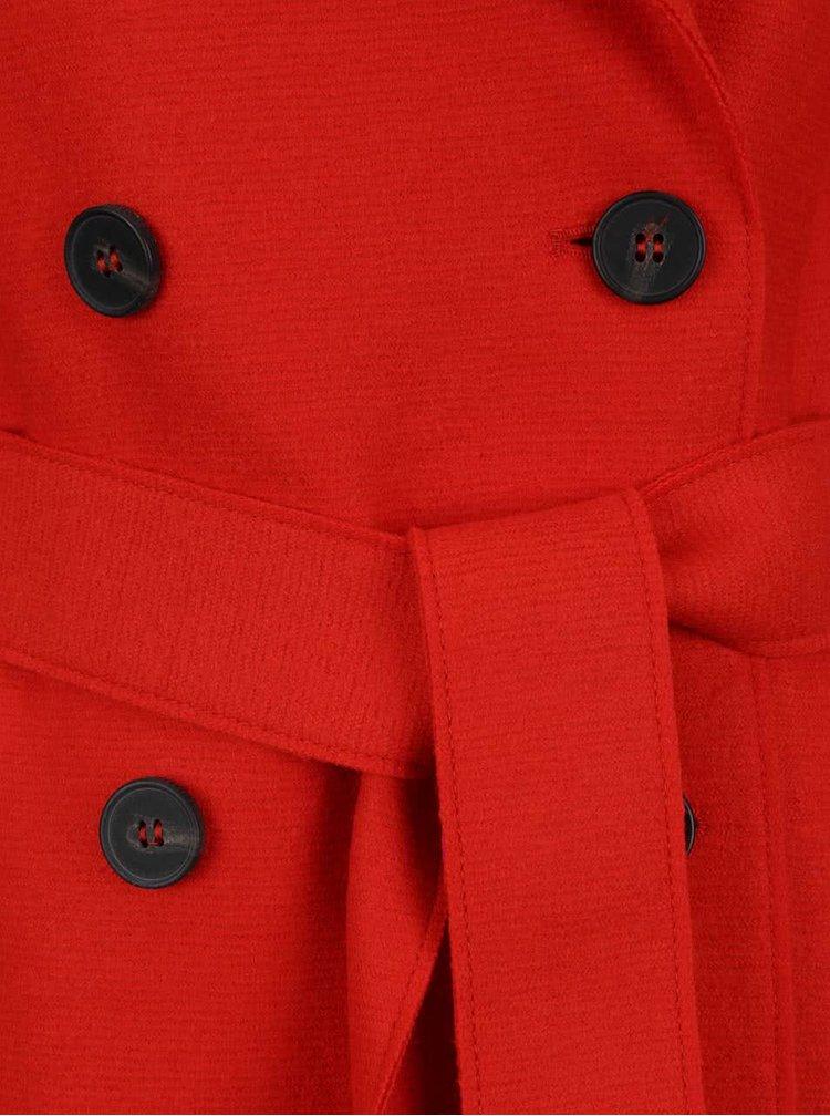 Červený vlněný trenčkot Tommy Hilfiger
