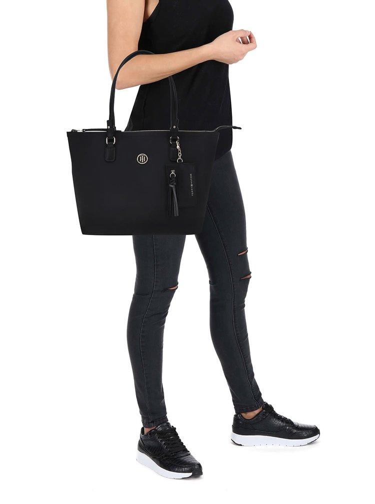 Černá oboustranná kabelka do ruky Tommy Hilfiger