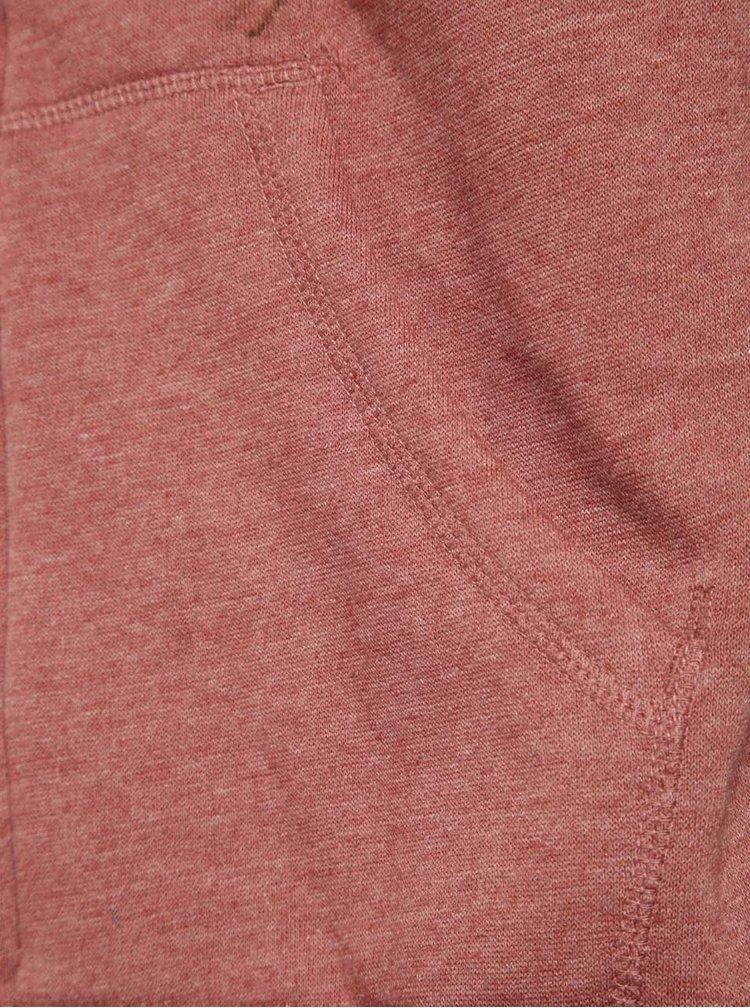 Červeno-šedá pánská mikina Rip Curl Hooded Block