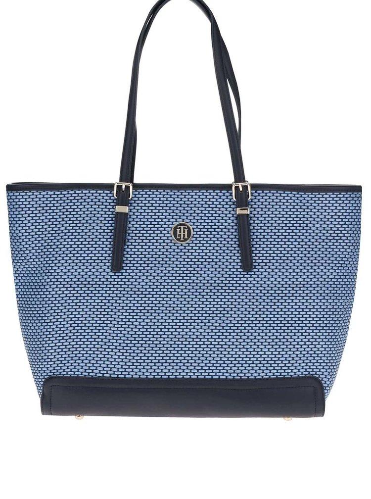 Modrá velká kabelka do ruky Tommy Hilfiger
