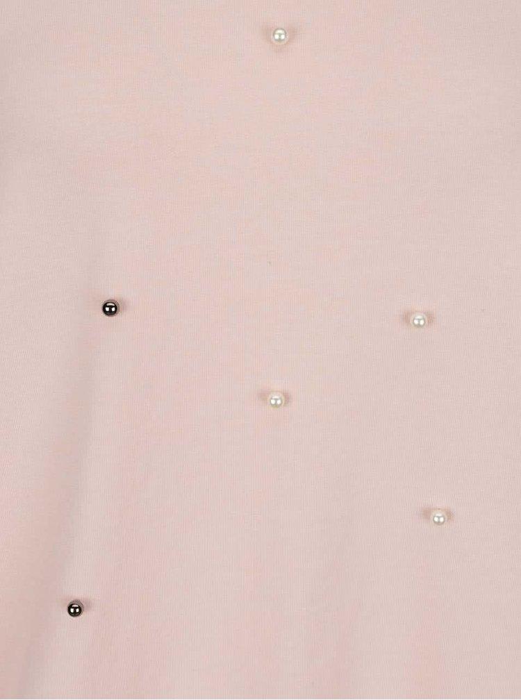Světle růžová mikina s korálky Haily's Pearly