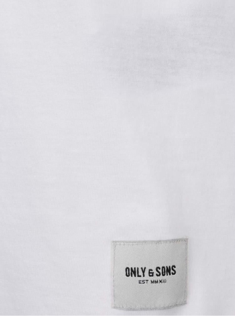Bílé basic tílko ONLY & SONS Sigfred