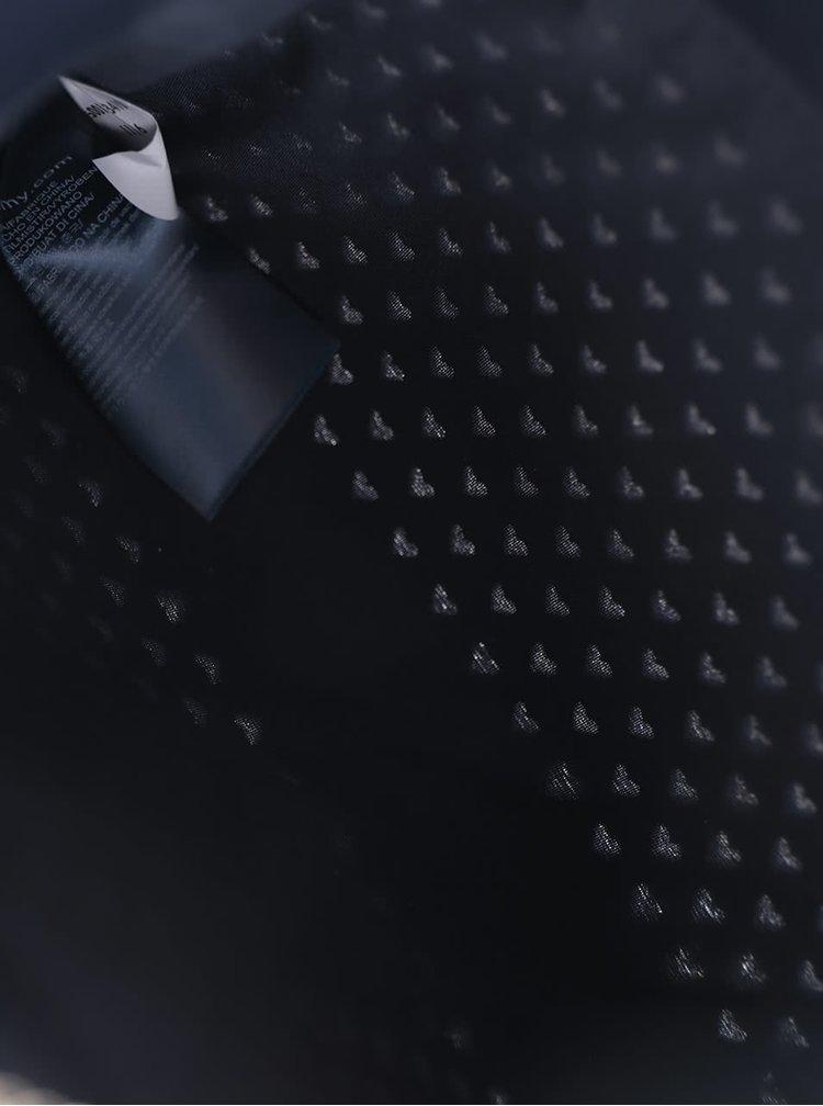 Tmavě modrá kožená perforovaná crossbody kabelka/psaníčko Tommy Hilfiger