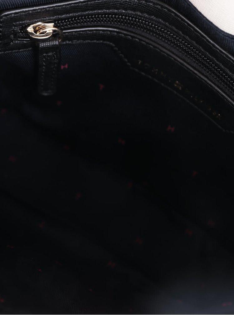 Černo-krémová crossbody kabelka s detaily ve zlaté barvě Tommy Hilfiger