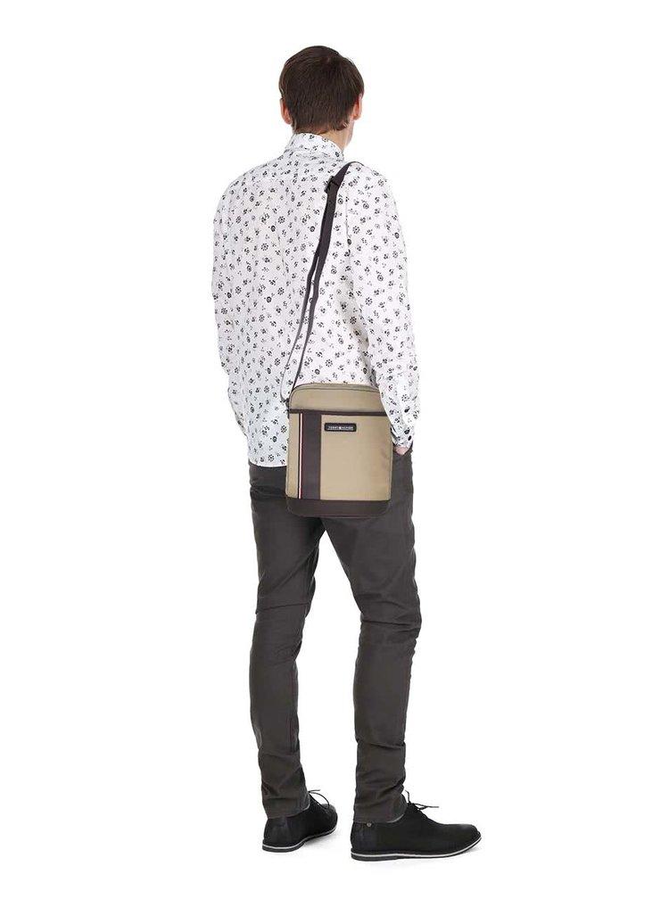Béžovo-hnědá pánská crossbody taška Tommy Hilfiger