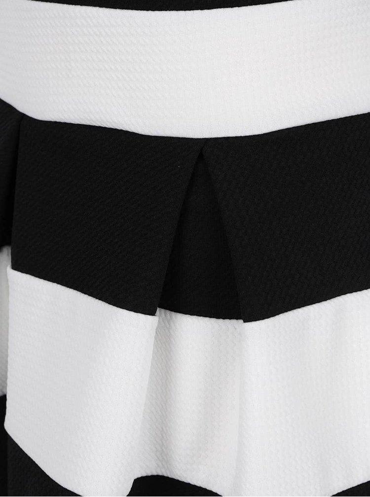 Rochie alb&negru Haily's Lilana cu dungi