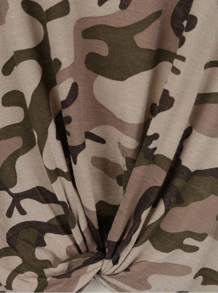 Tricou camuflaj Haily's Pam cu nod decorativ