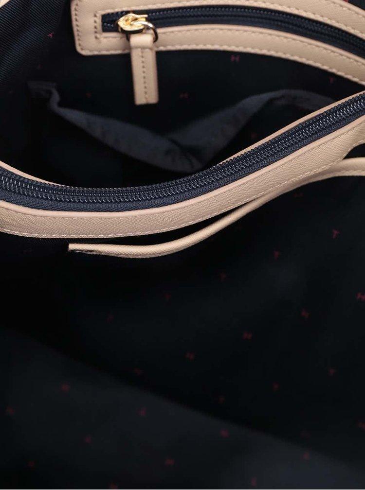 Béžová kabelka s detaily ve zlaté barvě Tommy Hilfiger