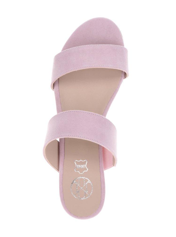 Růžové pantofle v semišové úpravě OJJU