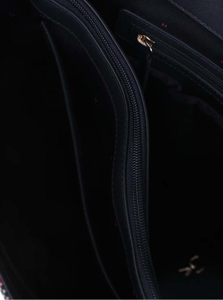 Modro-krémová pruhovaná kabelka s detaily ve zlaté barvě Tommy Hilfiger