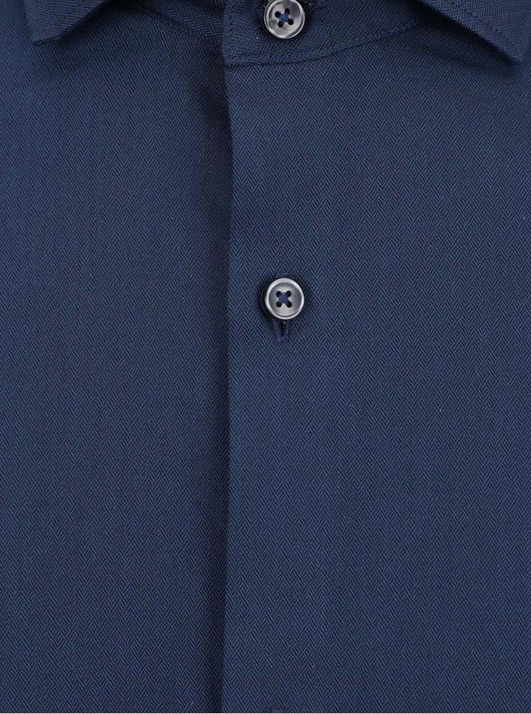 Camasa albastru inchis Jack & Jones Tim din bumbac