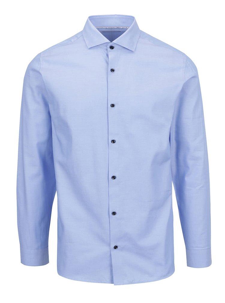 Svetlomodrá formálna slim fit košeľa s dlhým rukávom Jack & Jones Tim