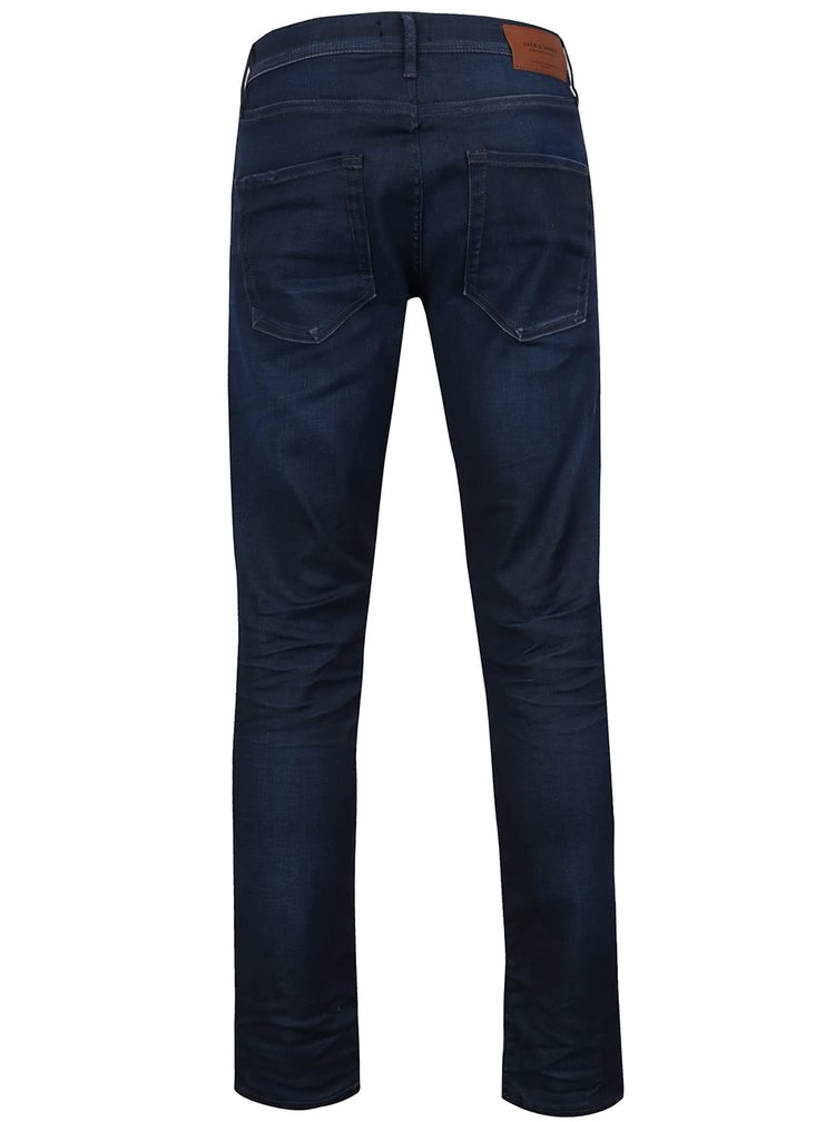 Tmavě modré slim fit džíny Jack & Jones Tim Classic