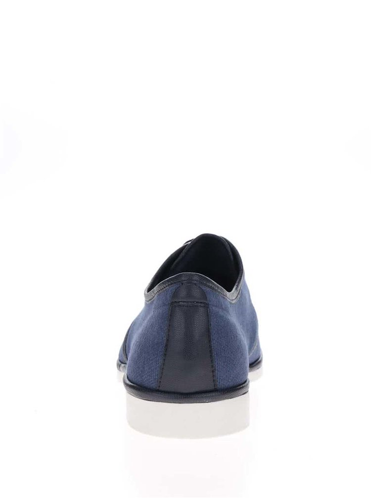 Tmavě modré pánské polobotky s koženými detaily Vagabond Pablo