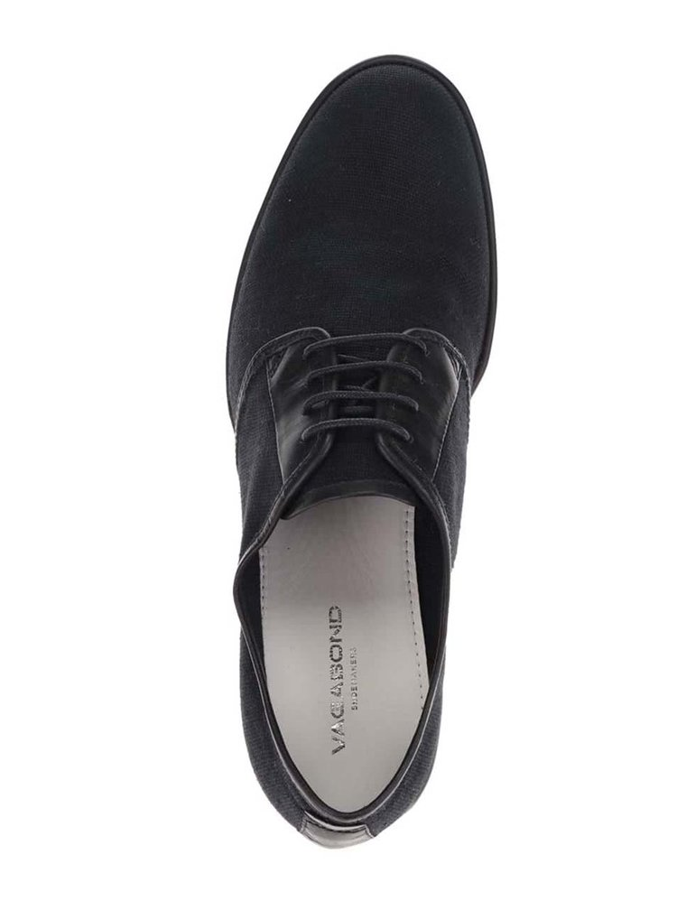 Pantofi negri Vagabond Pablo cu detalii din piele
