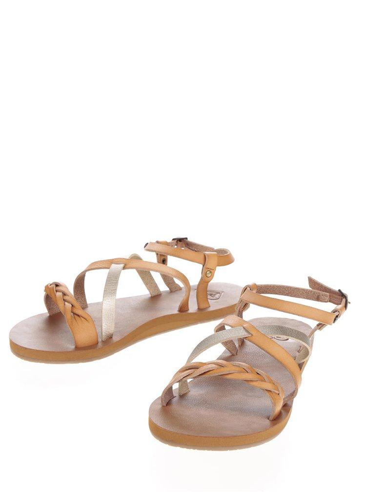 Hnědé sandály Roxy Britney