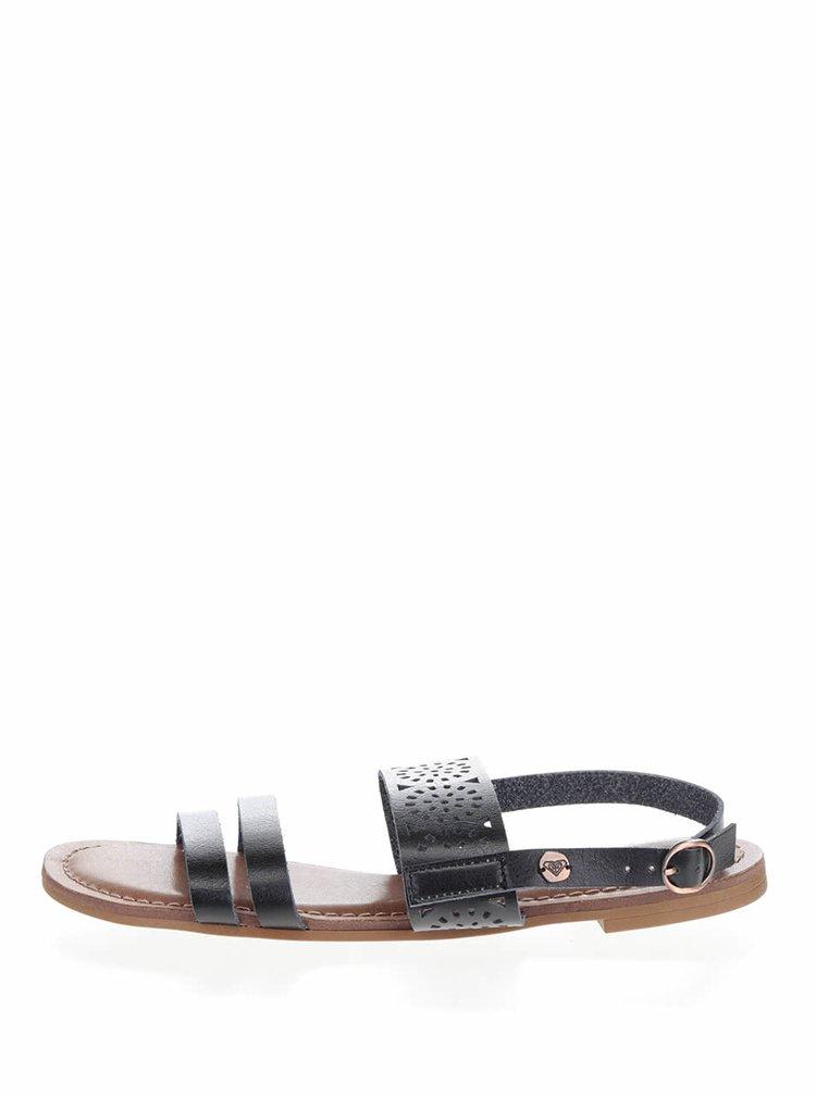 Sandale negre Roxy Felicia cu model perforat