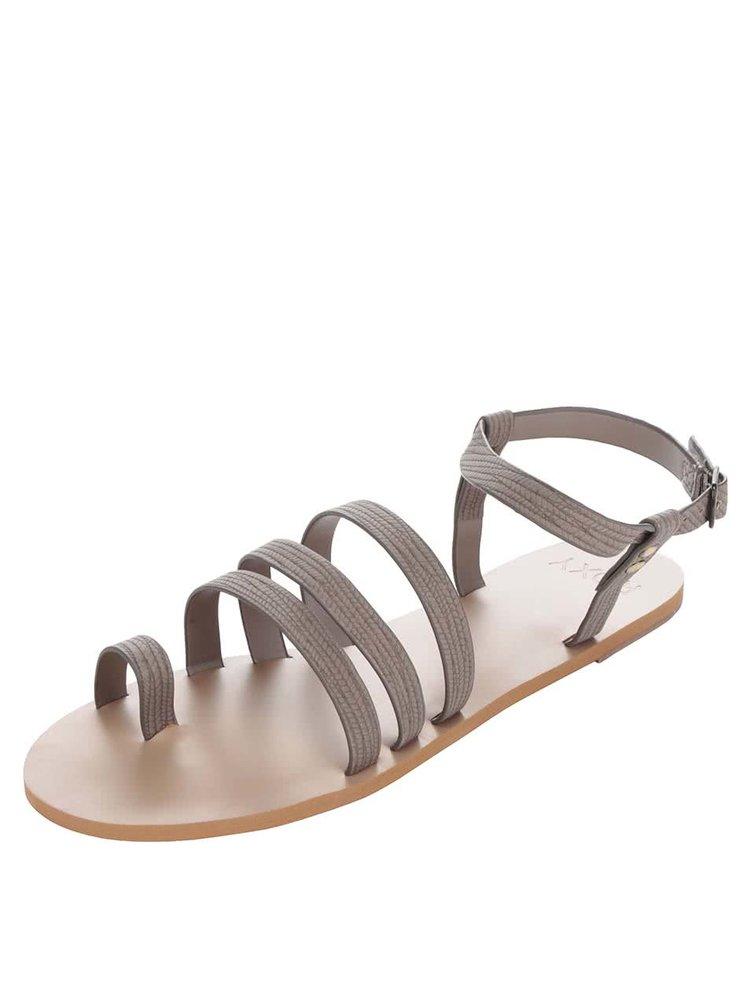 Hnědé páskové sandály Roxy Cory