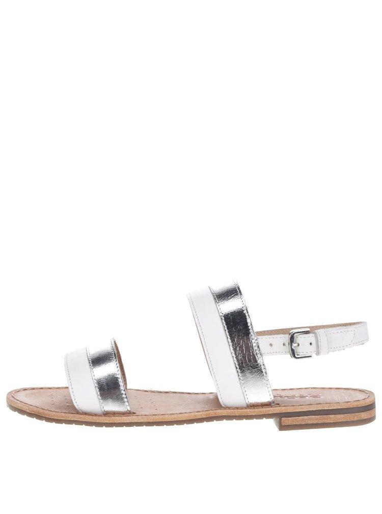 Sandale crem & argintiu Geox Sozy din piele
