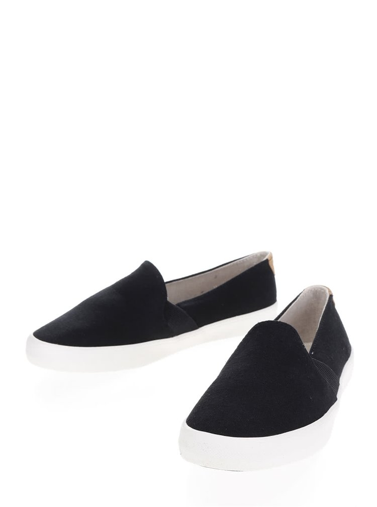 Černé slip on Roxy Atlanta