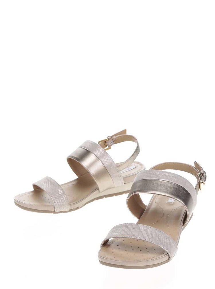 Béžové dámské kožené sandály Geox Formosa