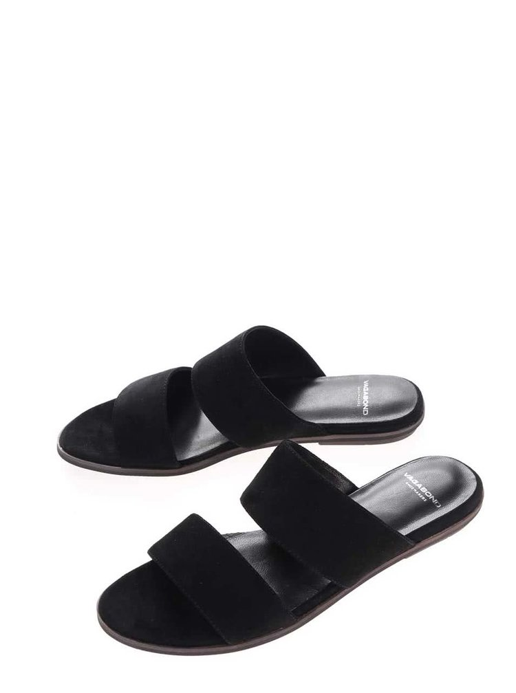 Černé dámské semišové pantofle Vagabond Natalia