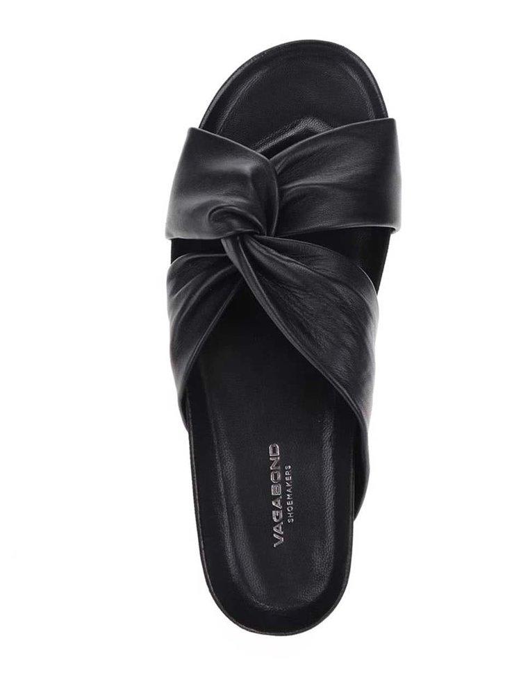 Černé dámské kožené pantofle Vagabond Erie