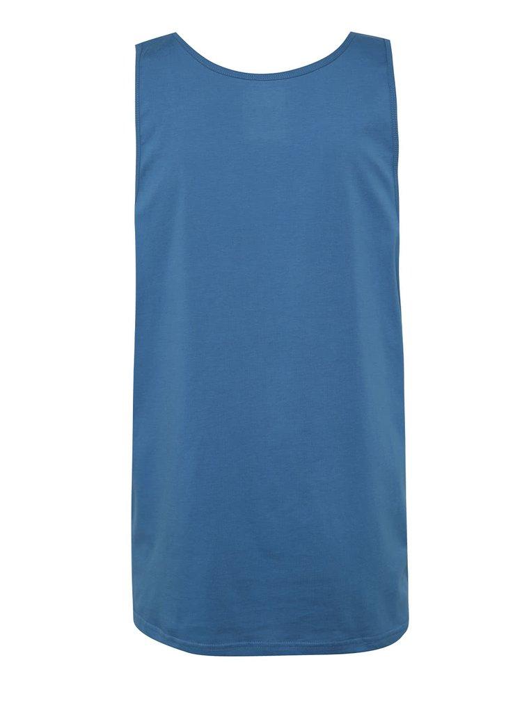 Modré pánské tílko s potiskem Quiksilver Vallarta