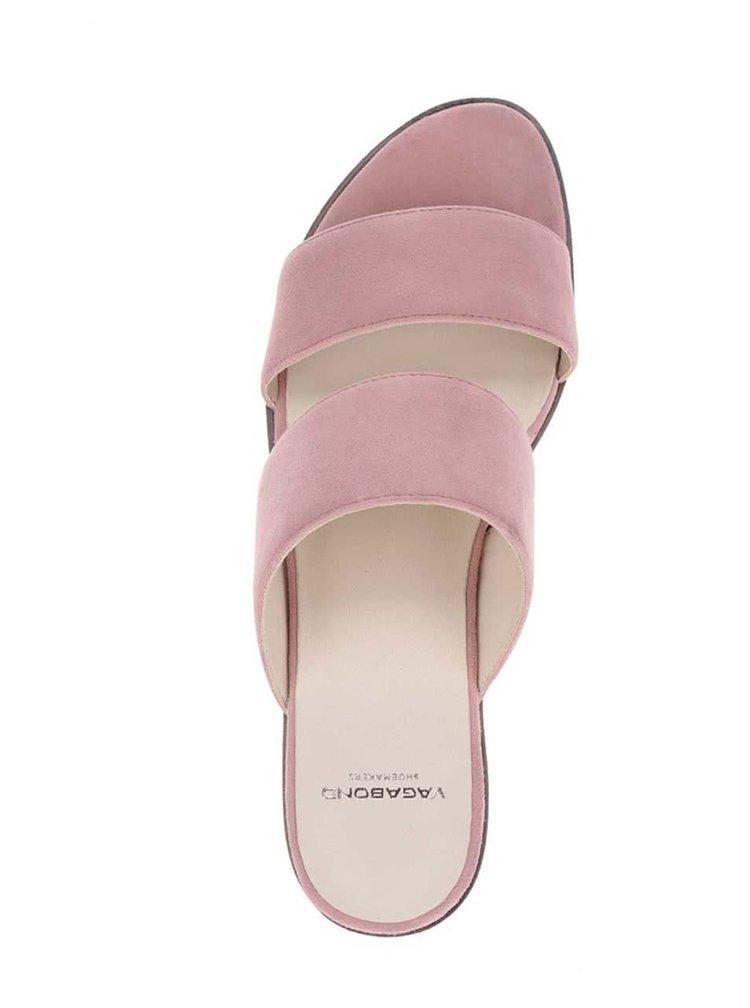 Růžové dámské semišové pantofle Vagabond Natalia
