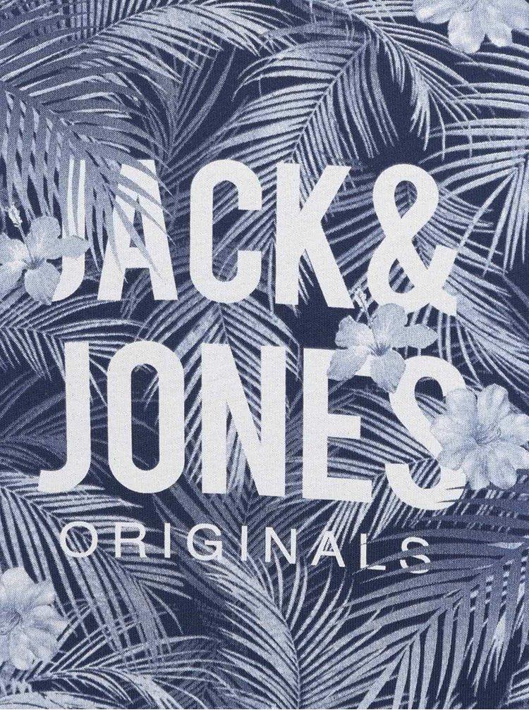 Modré triko s kulatým potiskem Jack & Jones Newport