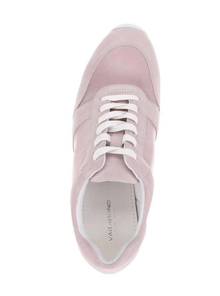 Růžové dámské tenisky se semišovými detaily Vagabond Kasai