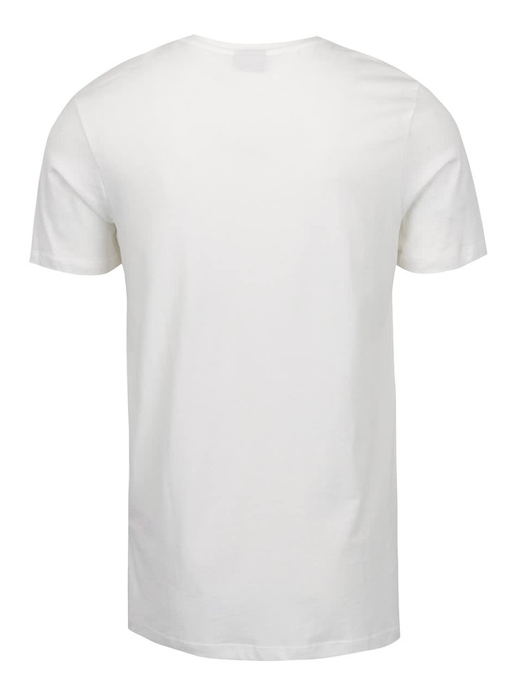 Krémové triko s potiskem Jack & Jones Newport