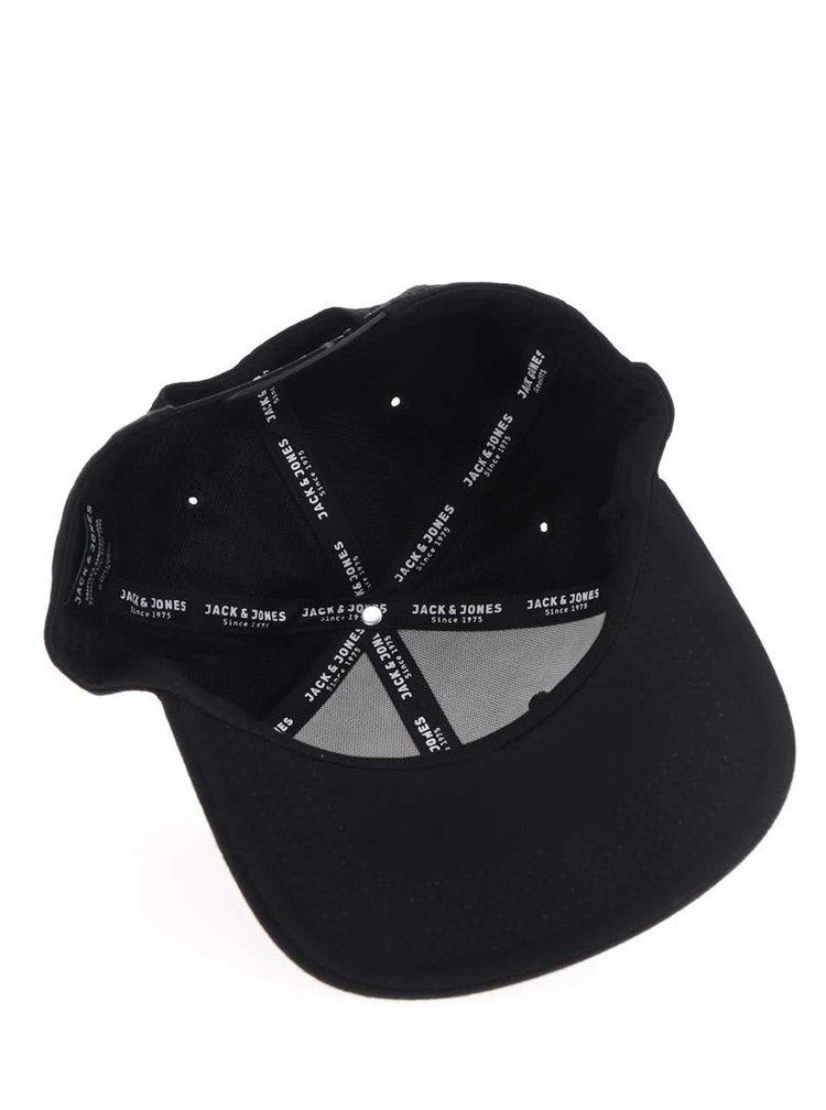 Șapcă neagră Jack & Jones Cale cu broderie