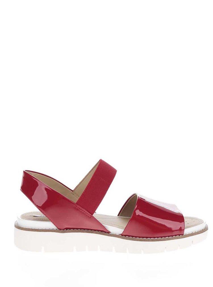 Sandale rosii de piele Geox Darline