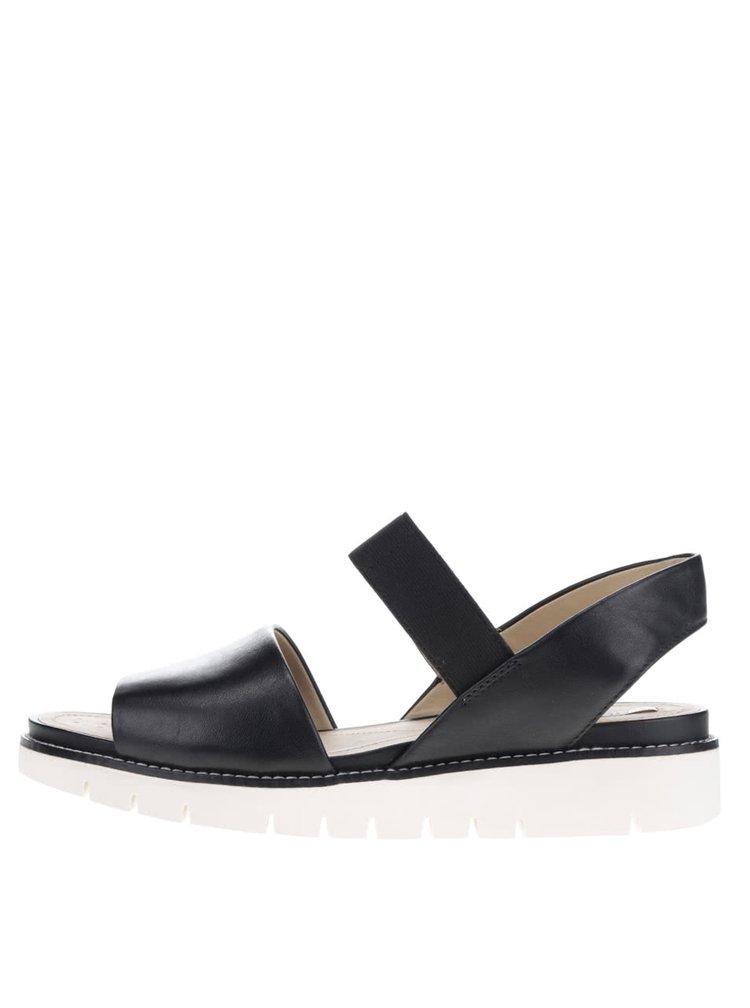 Černé dámské kožené sandály Geox Darline
