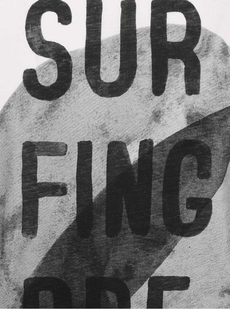 Krémové triko s černým potiskem Jack & Jones Francisco