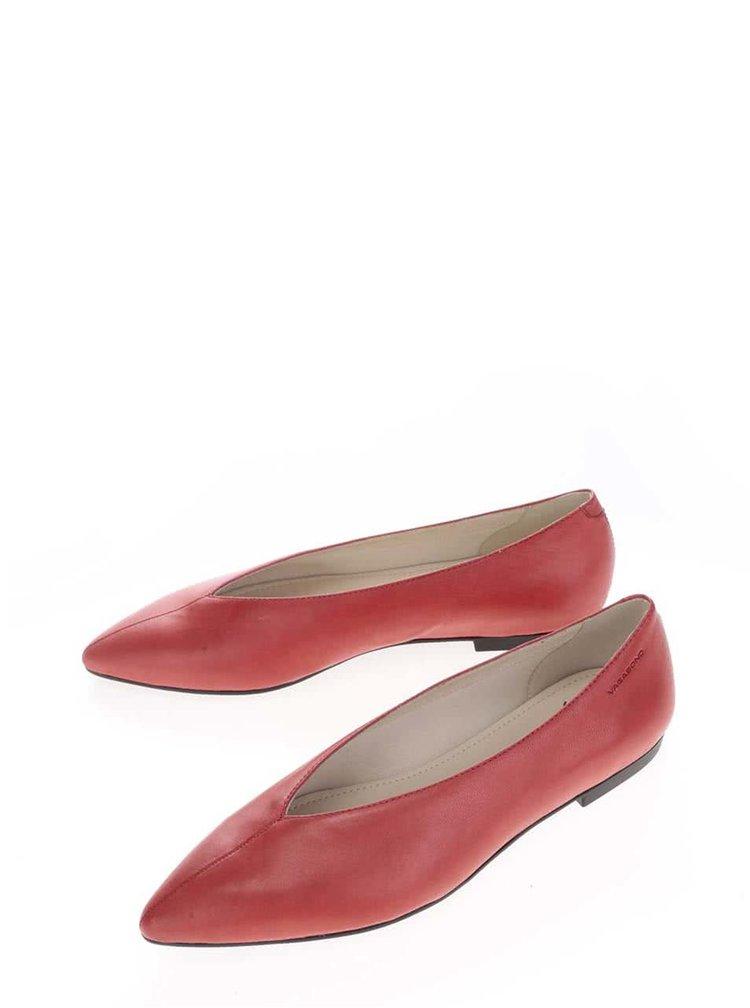 Červené kožené baleríny Vagabond Katlin