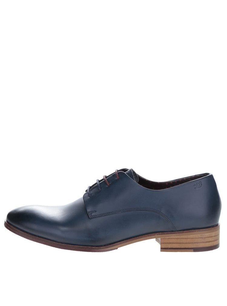 Pantofi albaștri London Brogues Wister Derby din piele