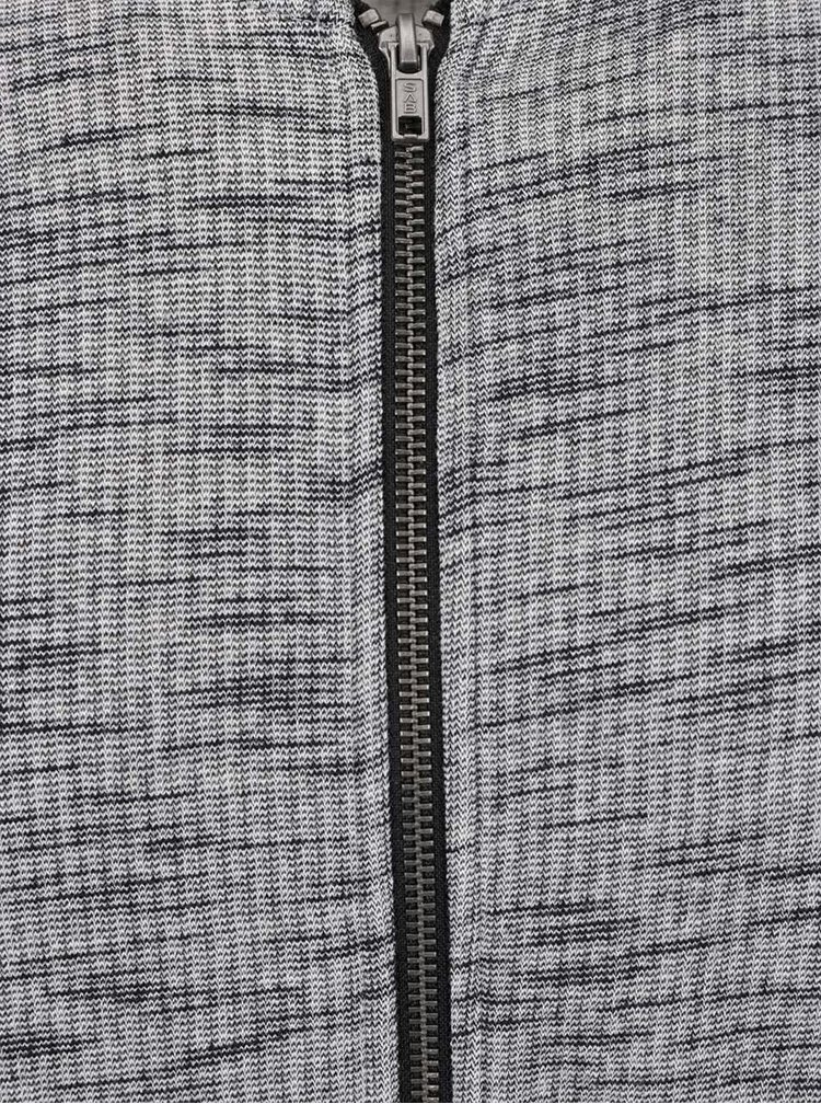 Bluză sport gri melanj Jack & Jones Allan cu guler mao