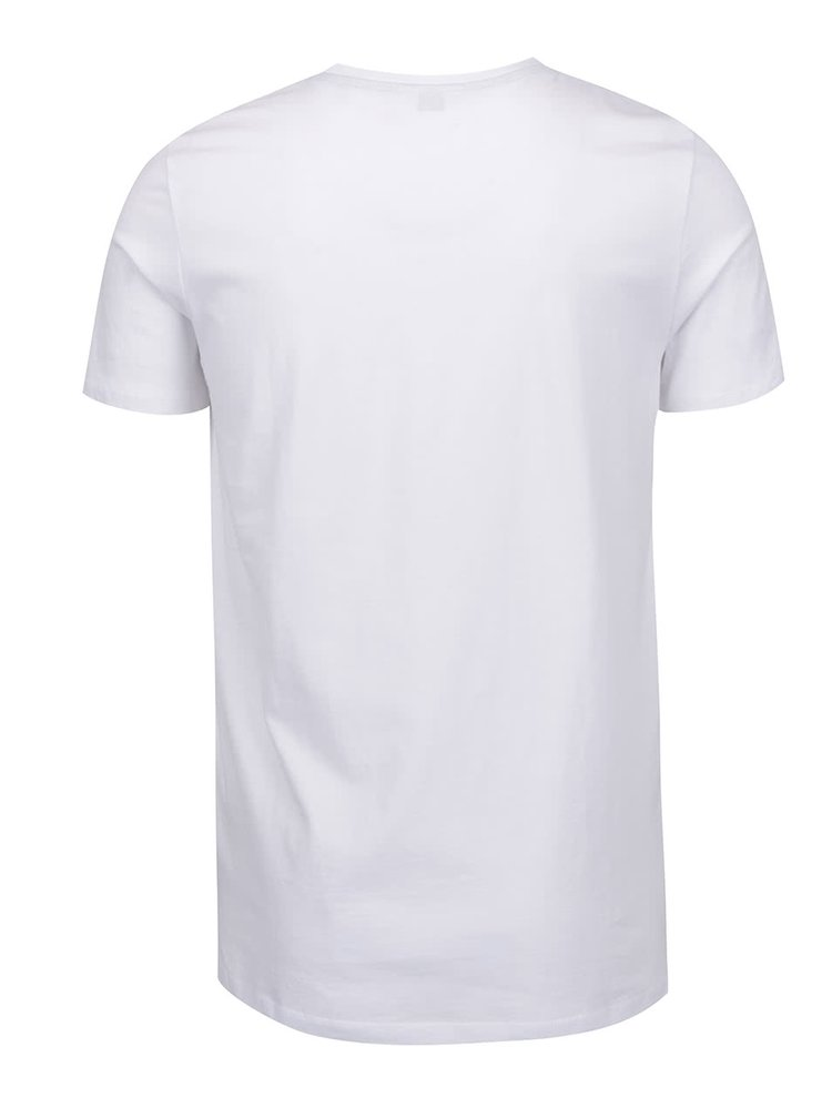 Tricou alb Jack & Jone Tate cu imprimeu