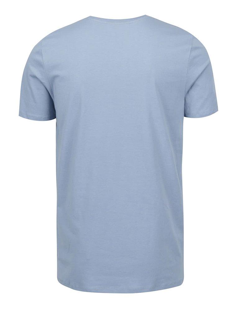 Modré triko s potiskem Jack & Jones Tate